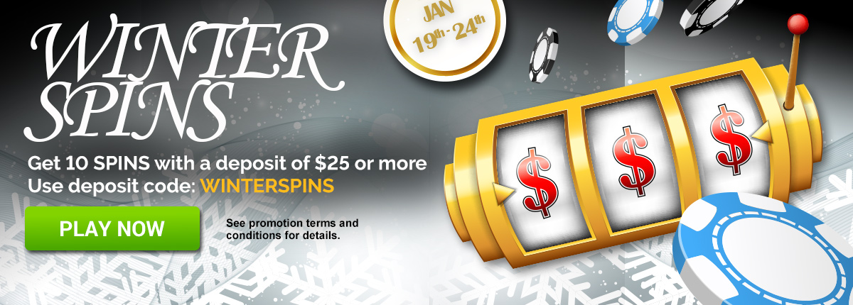Winterspins, 10 free spins on the Million Dollar Slot