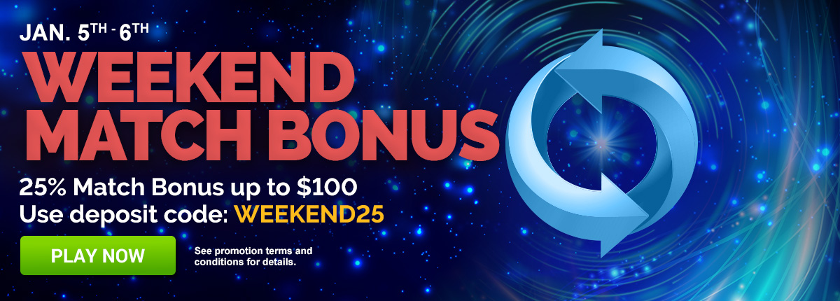 It's bonus weekend! Use code WEEKEND25 for $200 in bonuses!