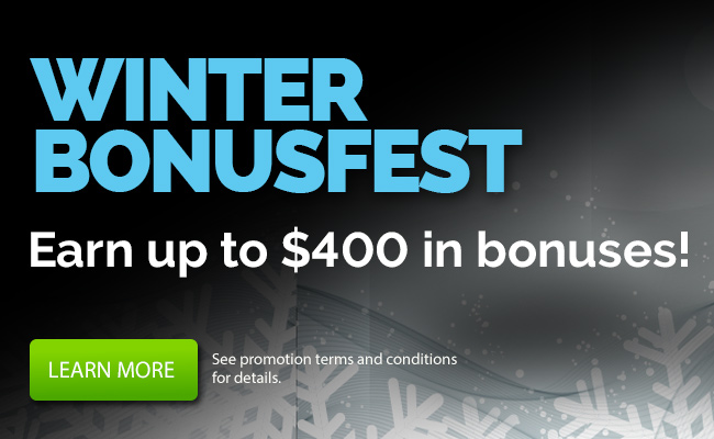 Get up to $400 in bonuses!